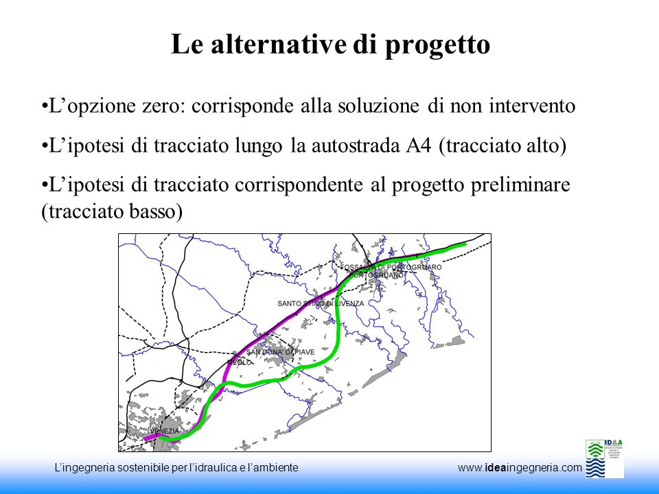 Le alternative di progetto
