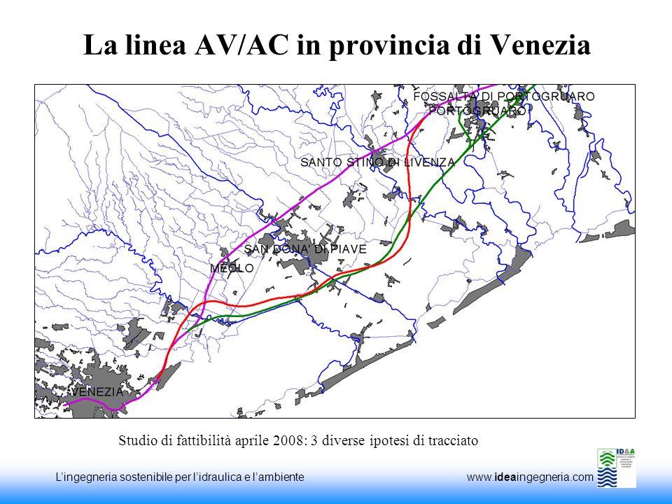 La linea AV/AC in provincia di Venezia