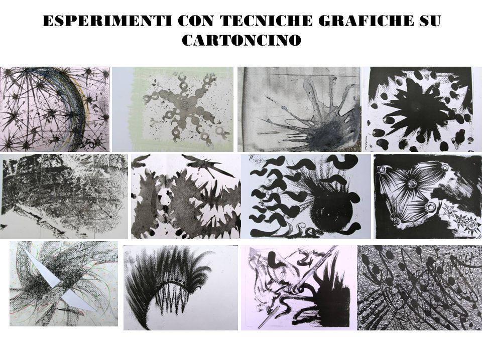ESPERIMENTI CON TECNICHE GRAFICHE SU CARTONCINO
