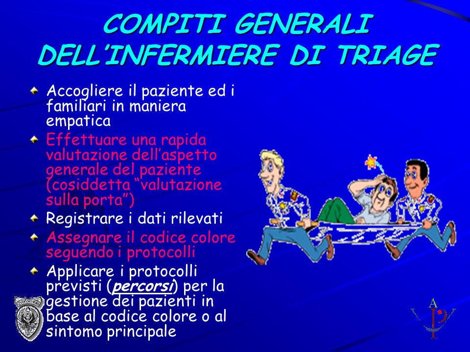 COMPITI GENERALI DELL'INFERMIERE DI TRIAGE