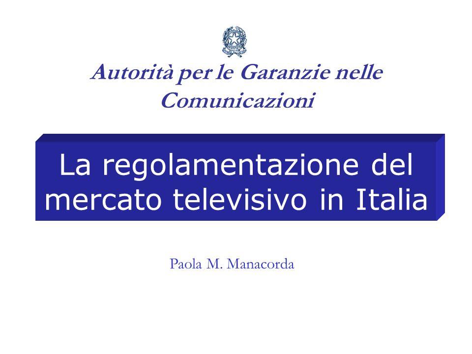 La regolamentazione del mercato televisivo in Italia