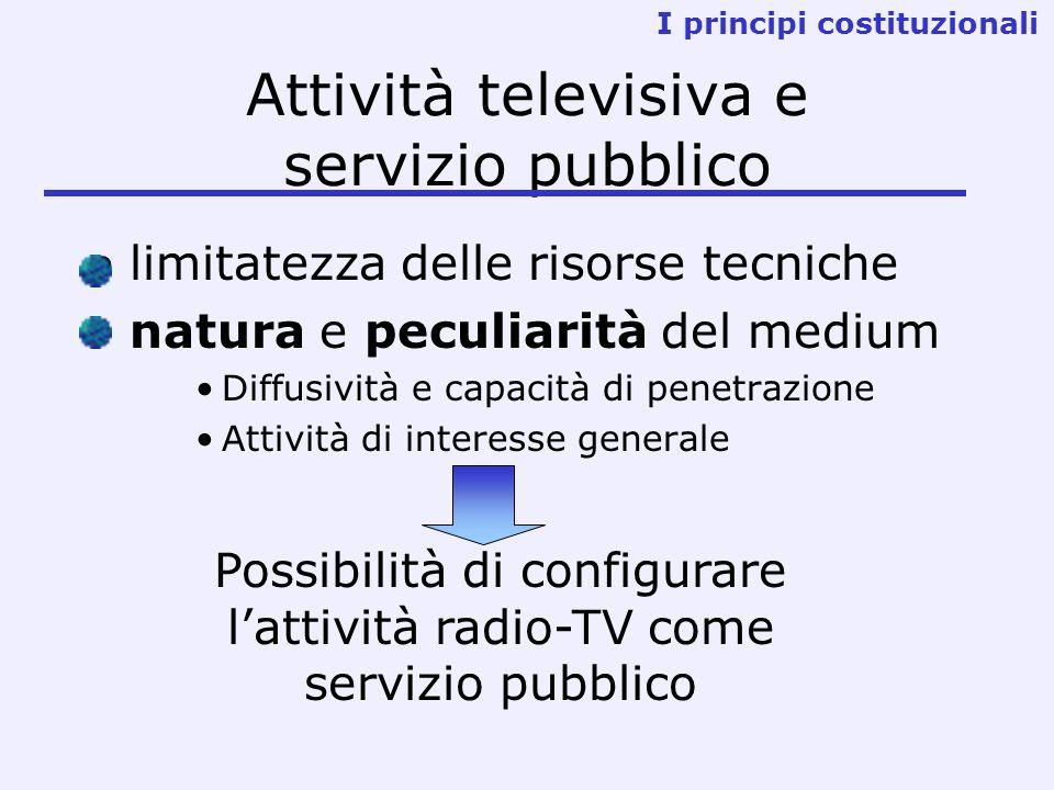 Attività televisiva e servizio pubblico