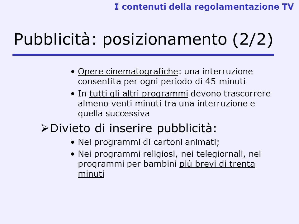Pubblicità: posizionamento (2/2)