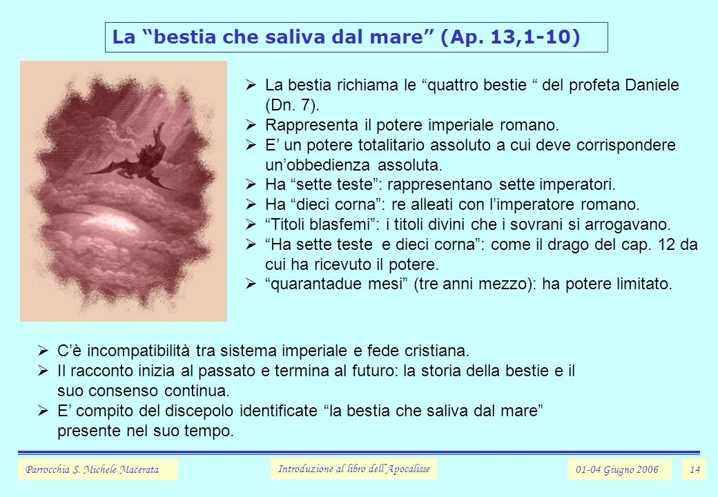La bestia che saliva dal mare (Ap. 13,1-10)
