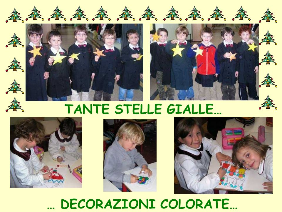 … DECORAZIONI COLORATE…