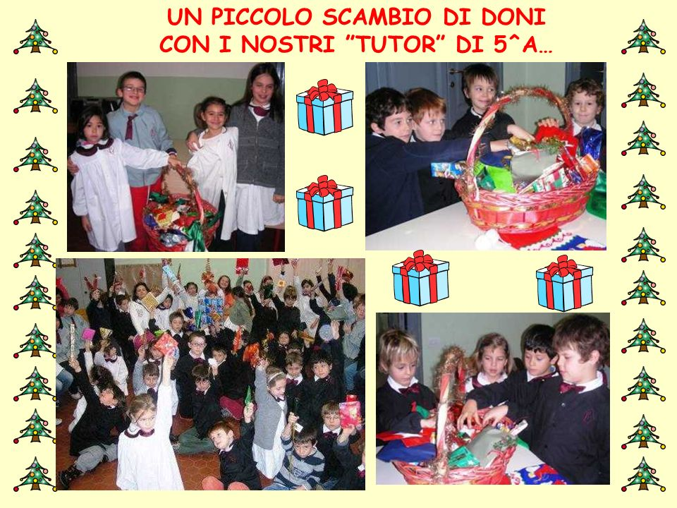 UN PICCOLO SCAMBIO DI DONI CON I NOSTRI TUTOR DI 5^A…