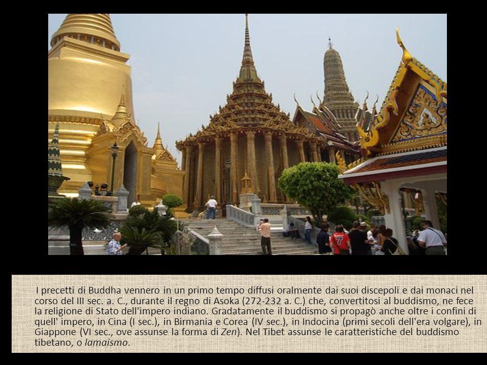 I precetti di Buddha vennero in un primo tempo diffusi oralmente dai suoi discepoli e dai monaci nel corso del III sec.