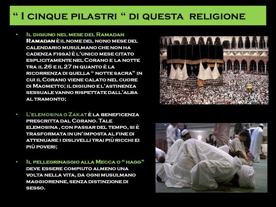 I cinque pilastri di questa religione