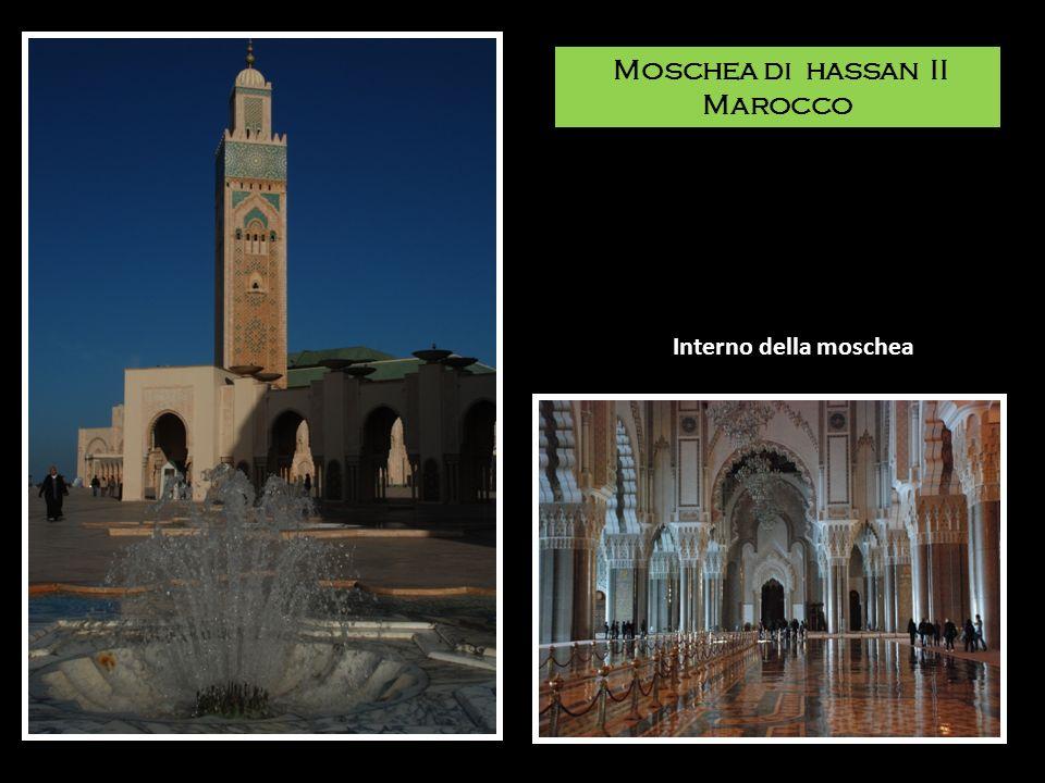Moschea di hassan II Marocco Interno della moschea