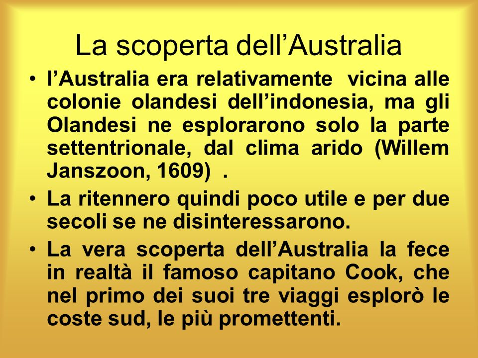 La scoperta dell'Australia
