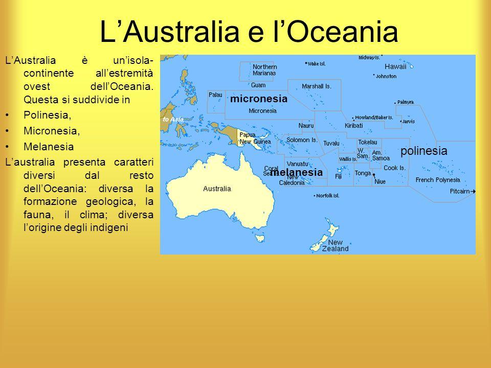 L'Australia e l'Oceania