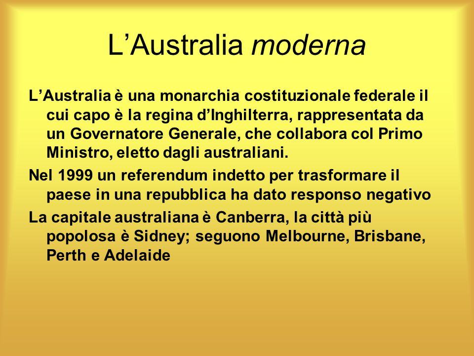 L'Australia moderna