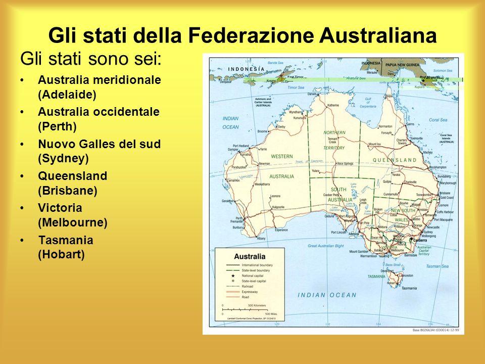 Gli stati della Federazione Australiana