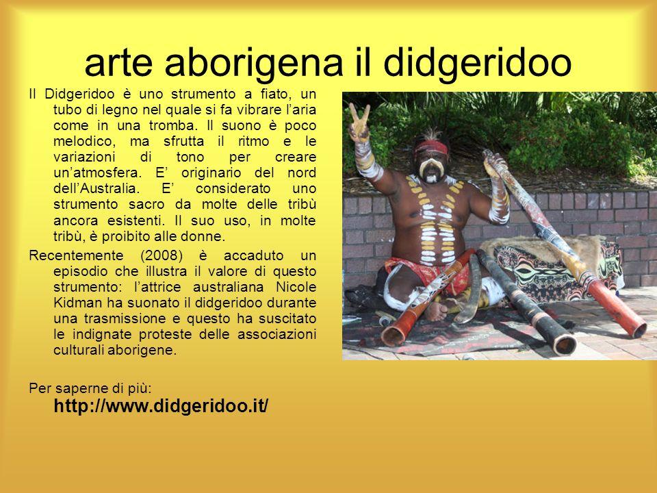 arte aborigena il didgeridoo