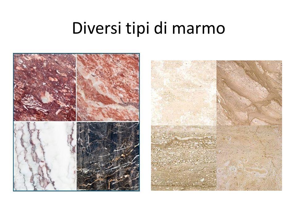 Diversi tipi di marmo
