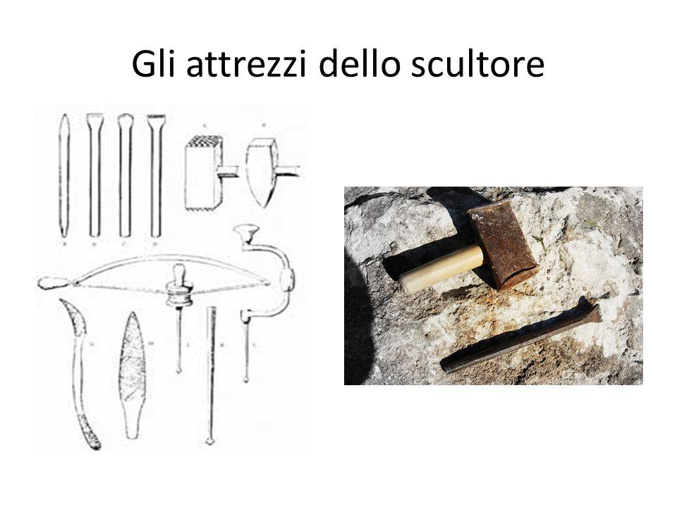 Gli attrezzi dello scultore