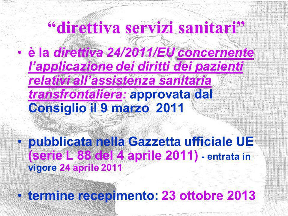 direttiva servizi sanitari