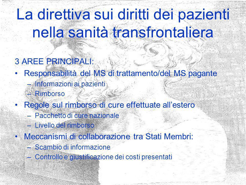 La direttiva sui diritti dei pazienti nella sanità transfrontaliera