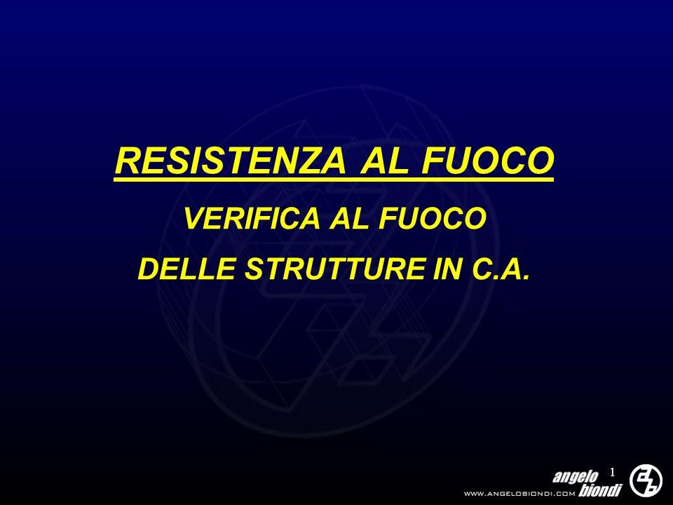 RESISTENZA AL FUOCO VERIFICA AL FUOCO DELLE STRUTTURE IN C.A.