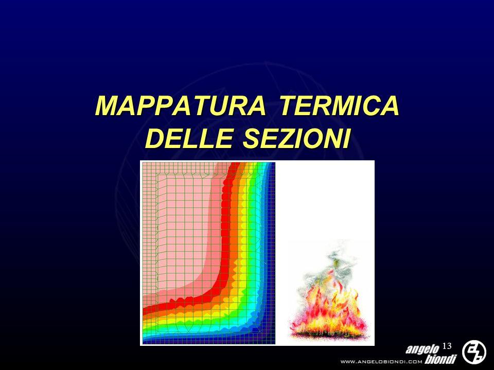 MAPPATURA TERMICA DELLE SEZIONI