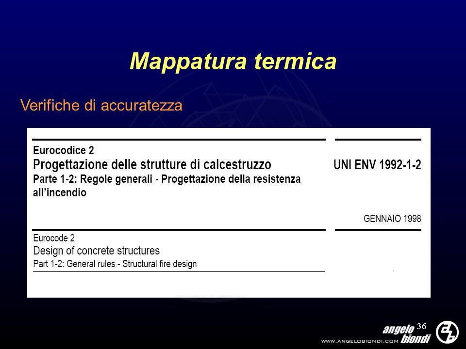 Mappatura termica Verifiche di accuratezza
