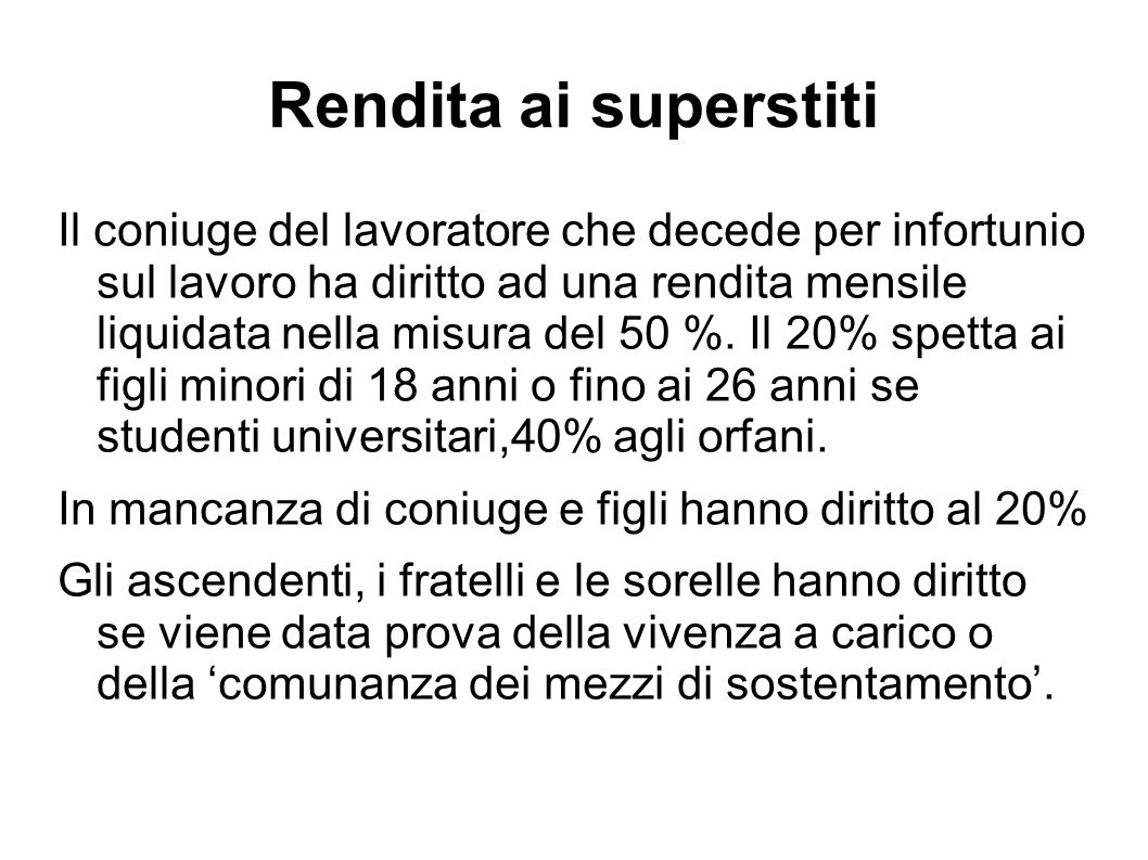 Rendita ai superstiti