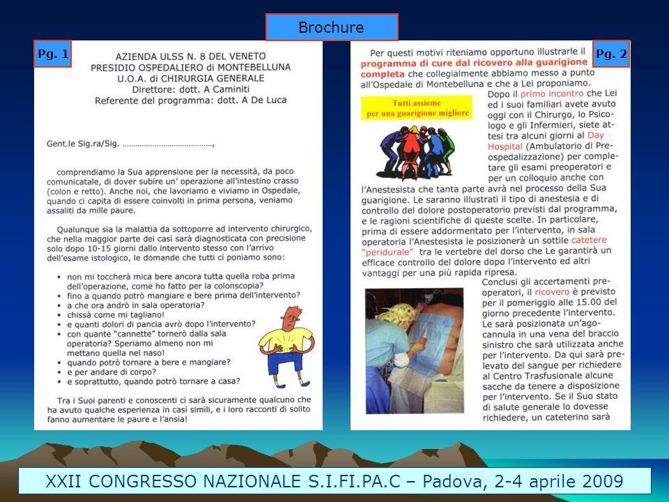 XXII CONGRESSO NAZIONALE S.I.FI.PA.C – Padova, 2-4 aprile 2009