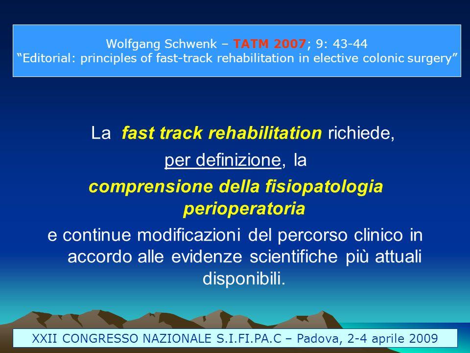 comprensione della fisiopatologia perioperatoria