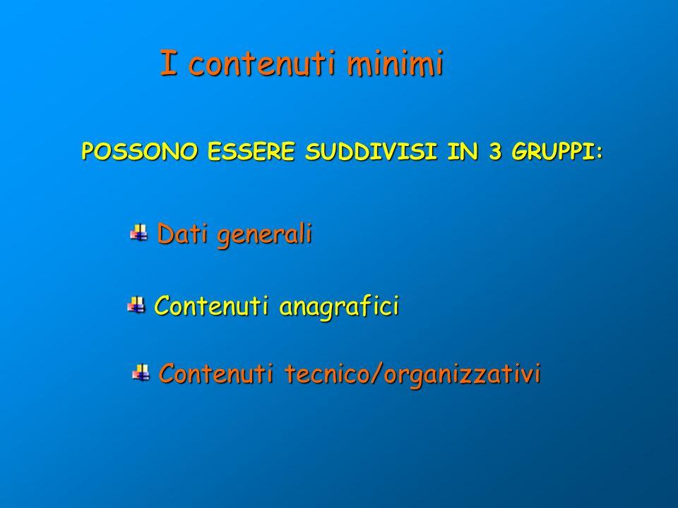 POSSONO ESSERE SUDDIVISI IN 3 GRUPPI: