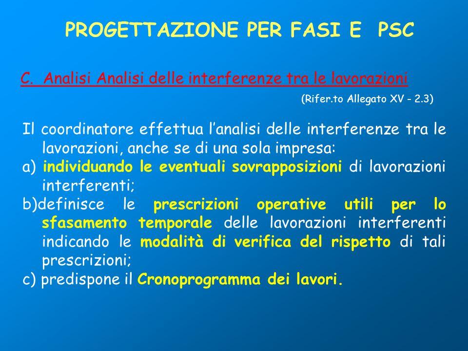 PROGETTAZIONE PER FASI E PSC