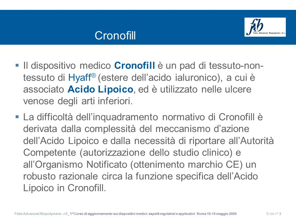 Cronofill