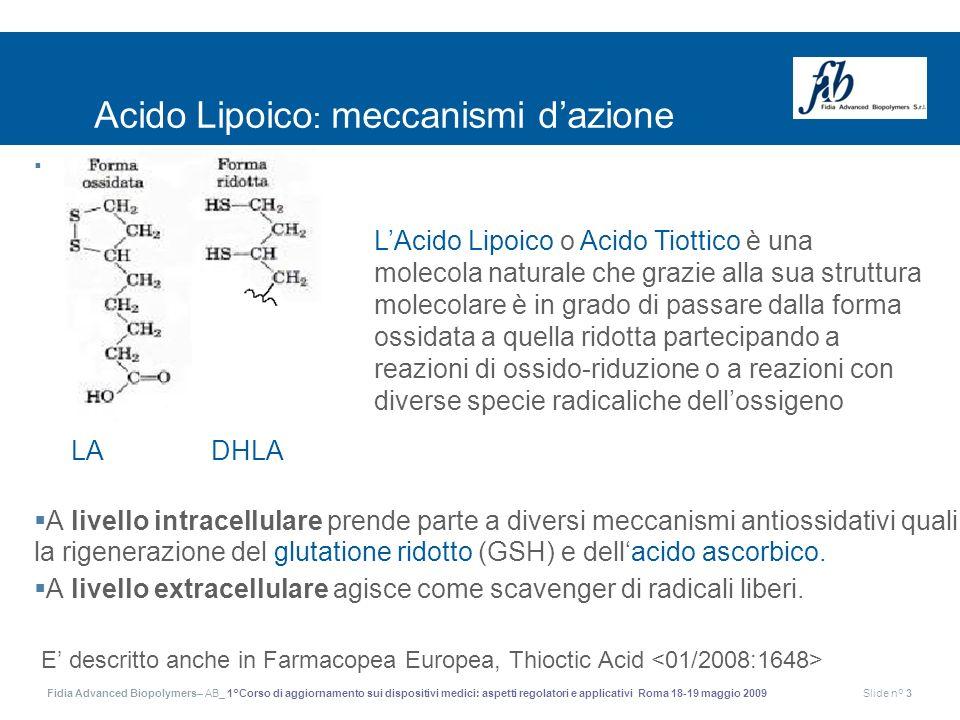 Acido Lipoico: meccanismi d'azione