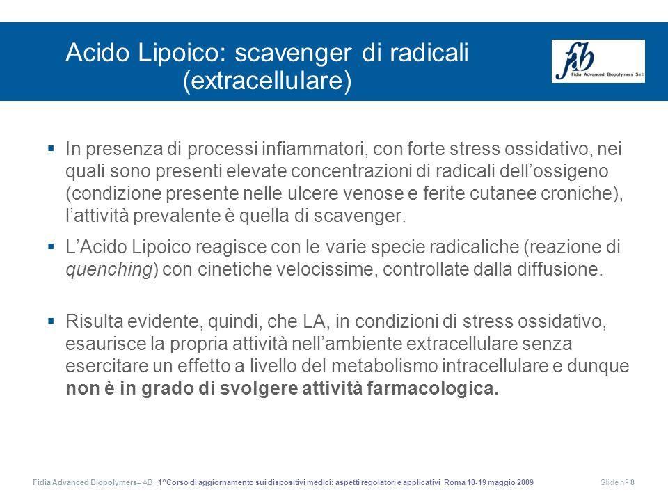 Acido Lipoico: scavenger di radicali (extracellulare)