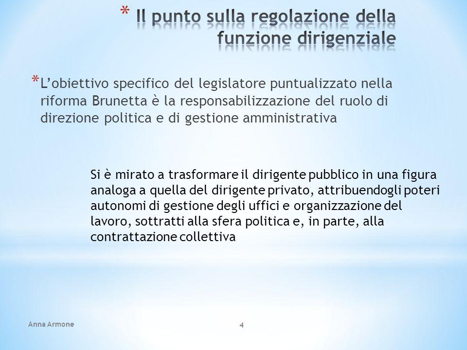 Il punto sulla regolazione della funzione dirigenziale