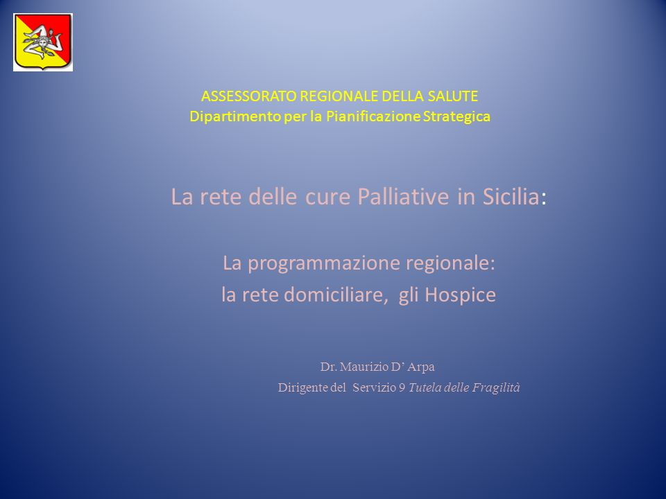 La rete delle cure Palliative in Sicilia: