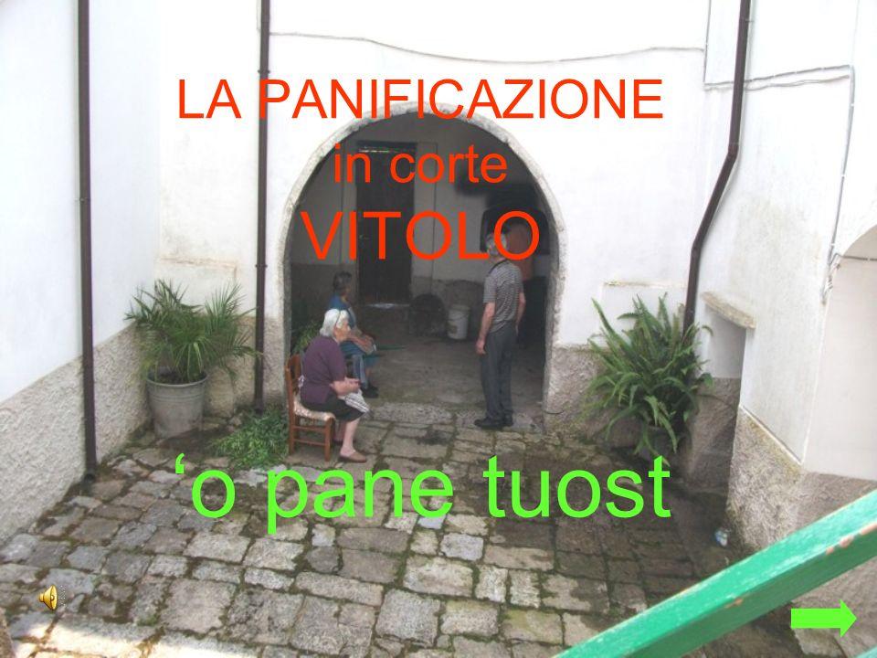 LA PANIFICAZIONE in corte VITOLO 'o pane tuost