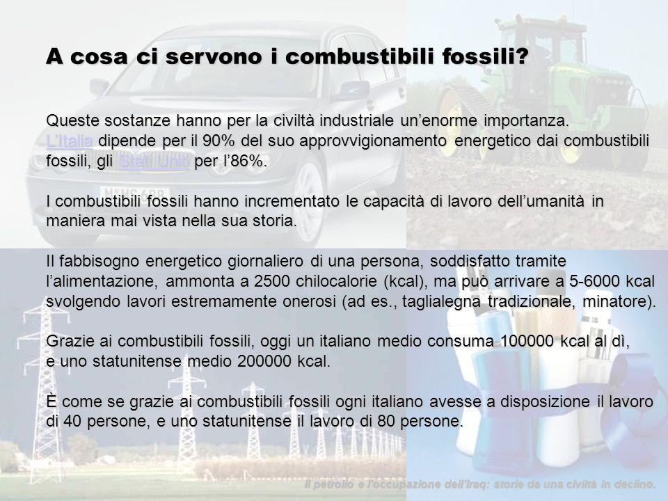 A cosa ci servono i combustibili fossili