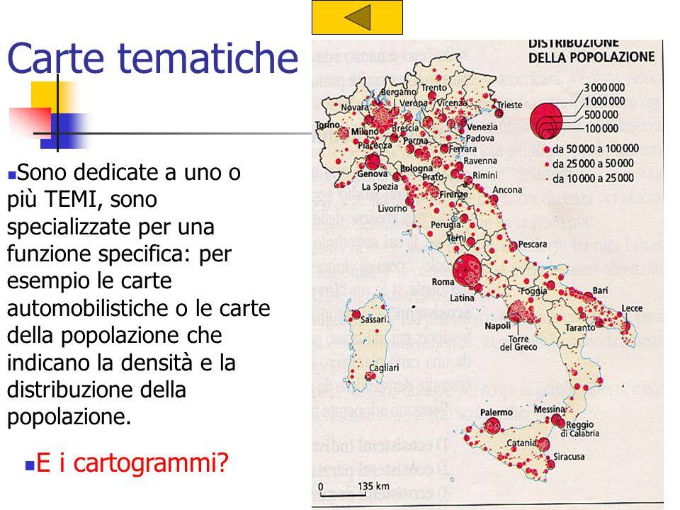 Carte tematiche E i cartogrammi