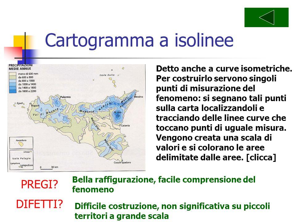 Cartogramma a isolinee