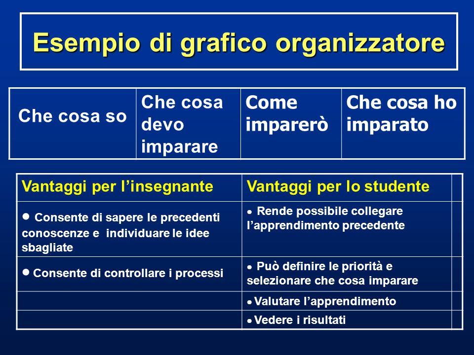 Esempio di grafico organizzatore