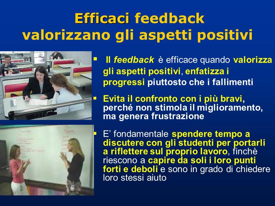 Efficaci feedback valorizzano gli aspetti positivi