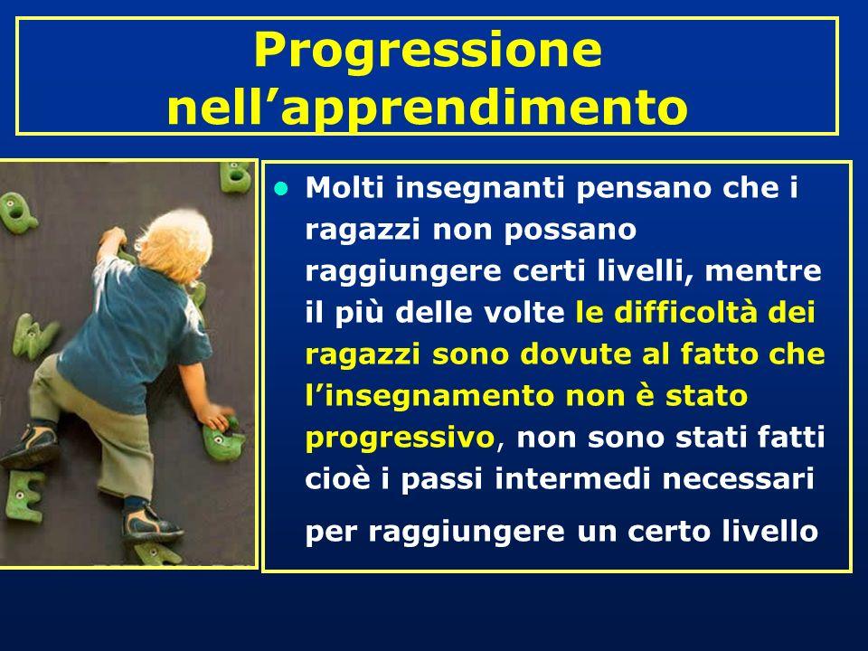 Progressione nell'apprendimento