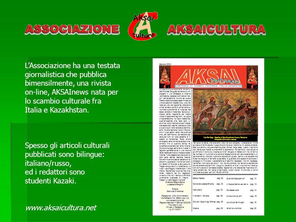 L'Associazione ha una testata giornalistica che pubblica bimensilmente, una rivista