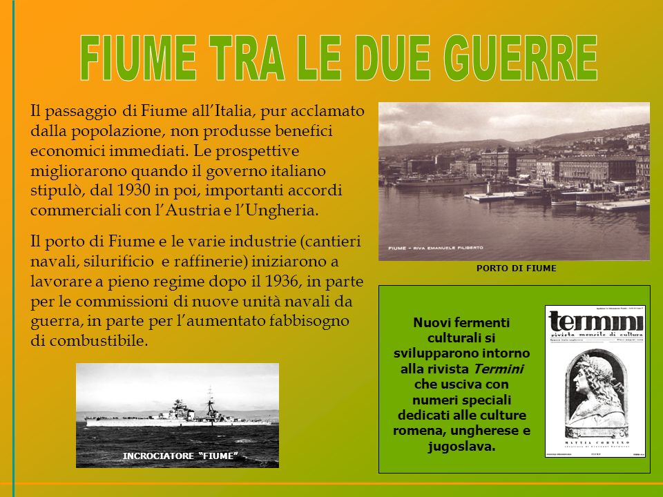 FIUME TRA LE DUE GUERRE