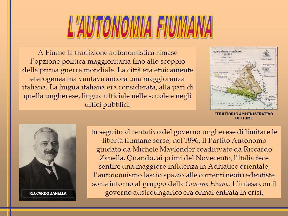 TERRITORIO AMMINISTRATIVO DI FIUME