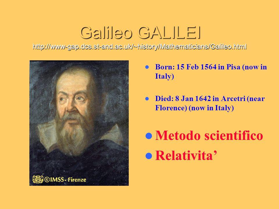 Galileo GALILEI http://www-gap. dcs. st-and. ac