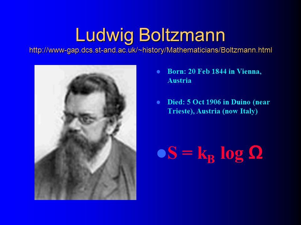 Ludwig Boltzmann http://www-gap. dcs. st-and. ac