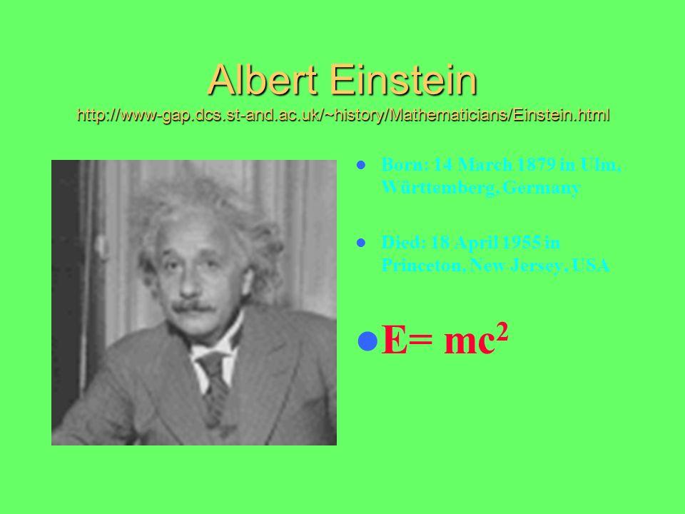 Albert Einstein http://www-gap. dcs. st-and. ac
