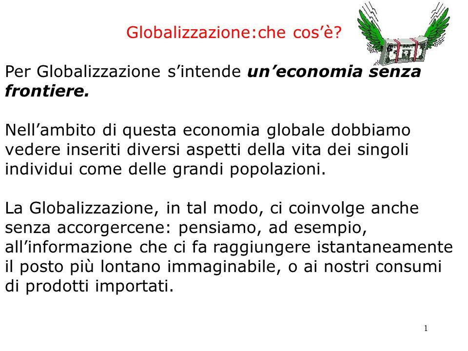 Globalizzazione:che cos'è