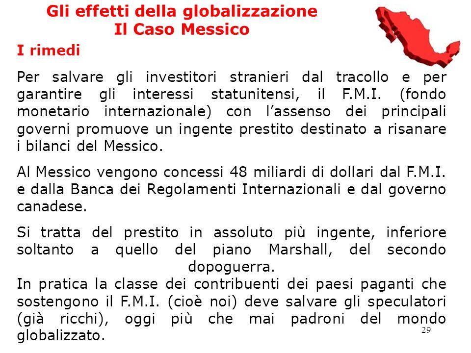 Gli effetti della globalizzazione